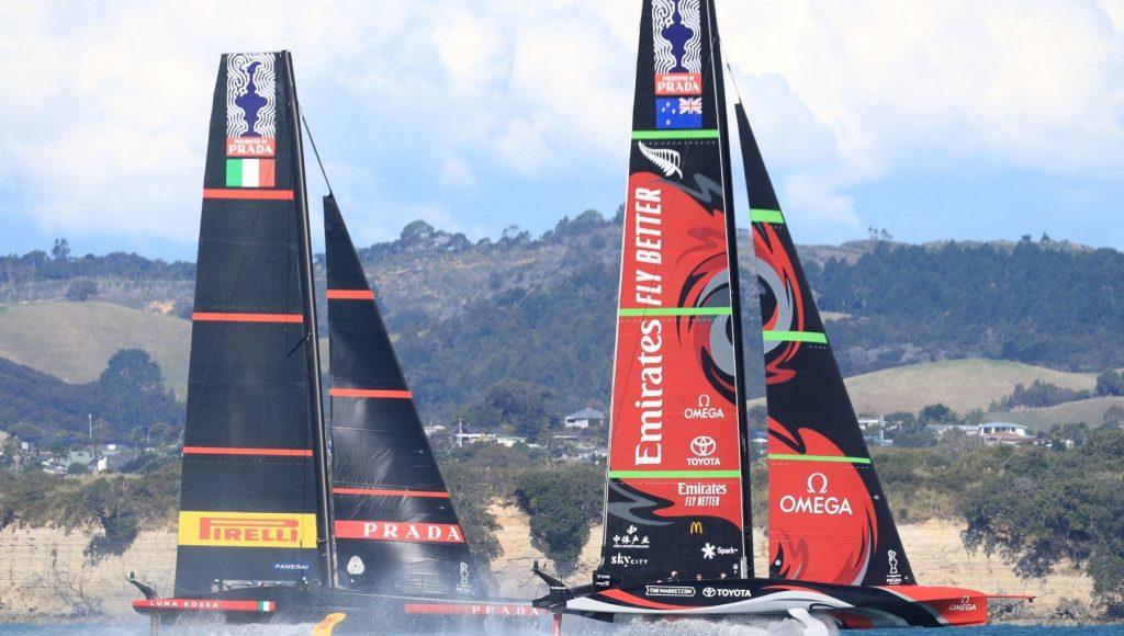 Luna Rossa - New Zealand finish 2-2.  Historic day for Italy