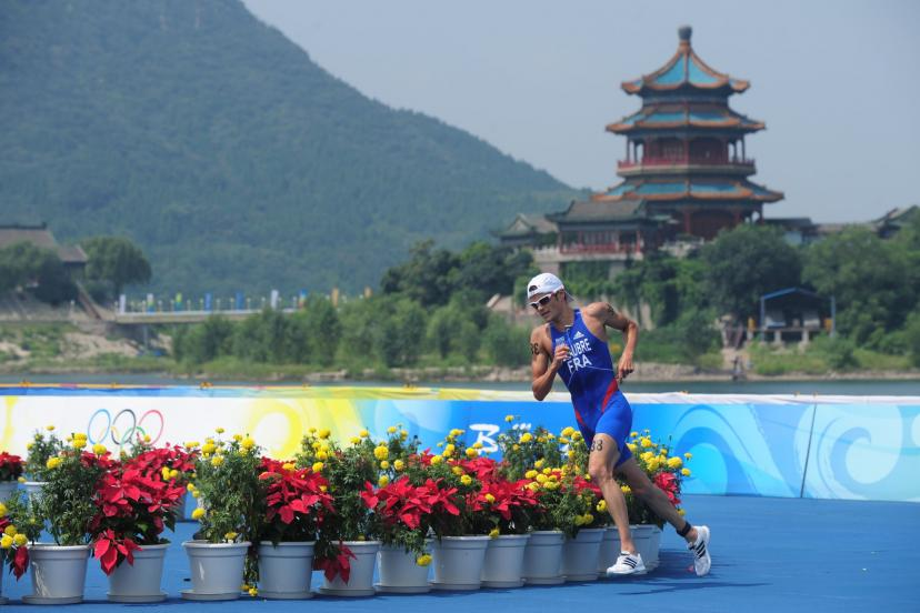 Frederic Bellupré finished 10th at the Beijing Olympics after suffering heatstroke on foot.  (R. Martin/Team)