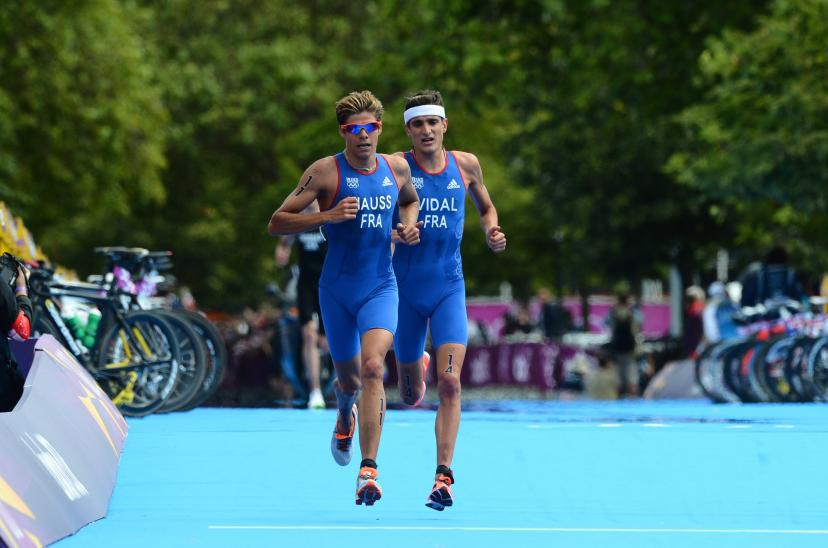 David Hoss and Laurent Vidal during the London Olympics which they will complete respectively in 4th and 5th places.  (S Manti / Team)