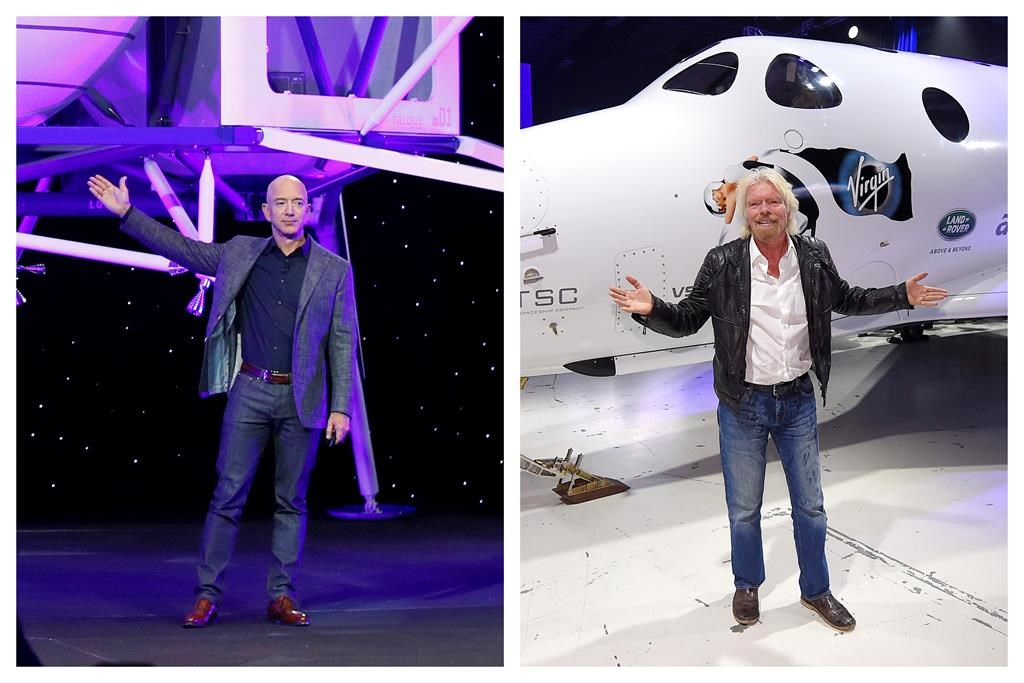 Billionaires set out to conquer space