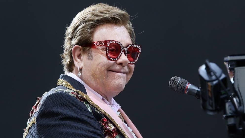 Elton John on February 16, 2020 in Auckland, New Zealand.
