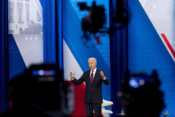 US President Joe Biden in Cincinnati on July 21, 2021.