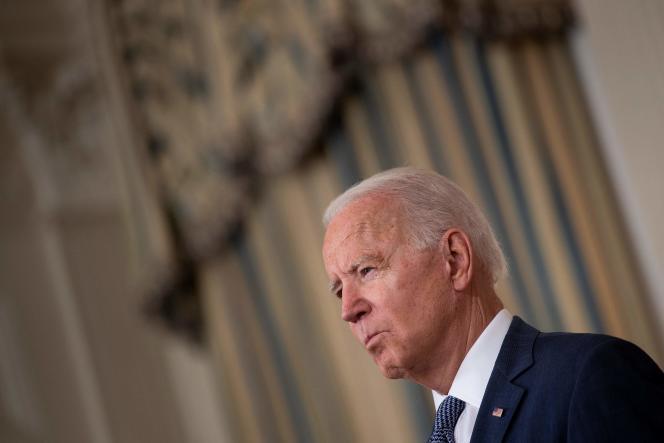 Joe Biden at the White House, Washington, D.C., July 9, 2021.