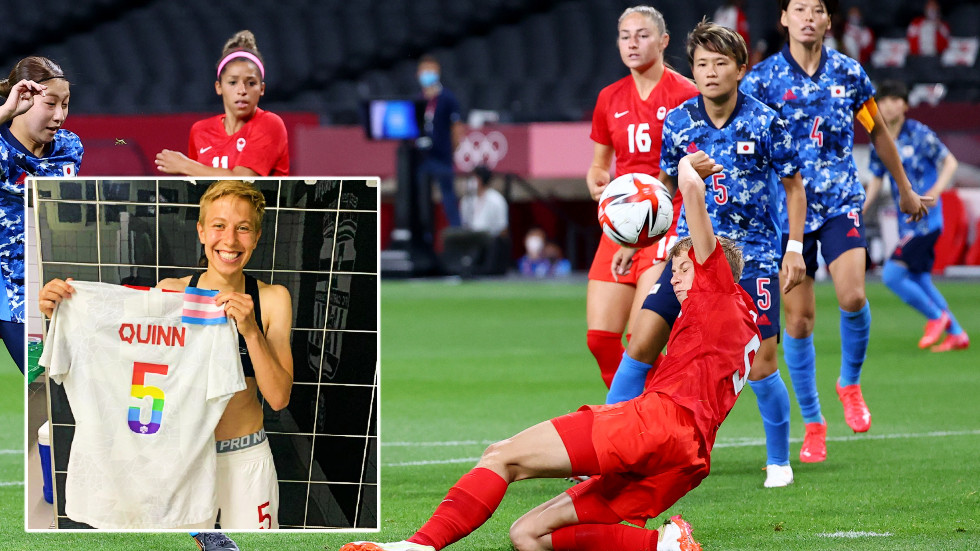 """The non-binary soccer player who is the first openly transgender athlete at the Olympics says she feels """"proud"""" but is """"aware of the facts"""""""