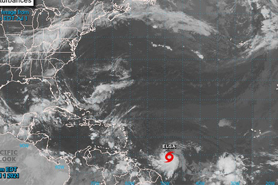 Tropical Storm Elsa is heading especially towards Martinique, which is still standing