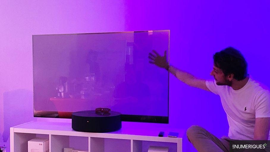 Xiaomi's Oled Transparent TV is visible in Paris