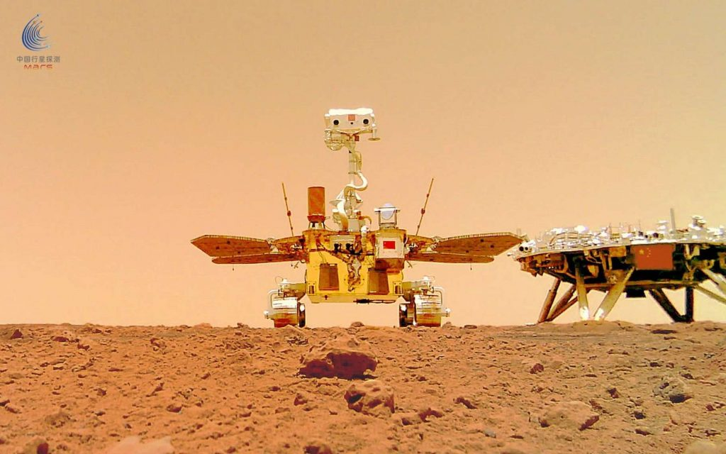 Zhurong: Invisible images of the arrival of the Chinese spacecraft to Mars