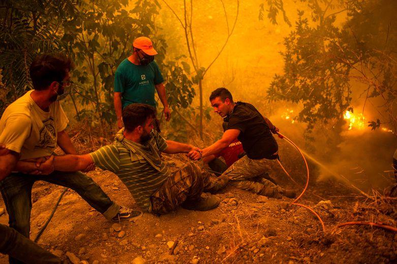 Fires broke out in Greece.