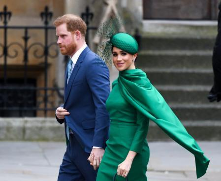 Prince Harry and Meghan Markle during Commonwealth Day in London