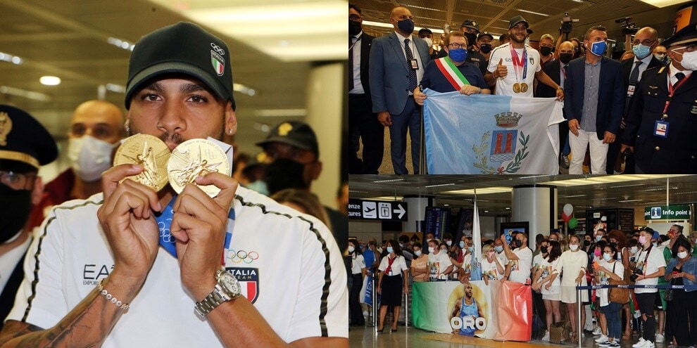Jacobs Presents Olympic Gold Medals: Stars Welcome to Rome