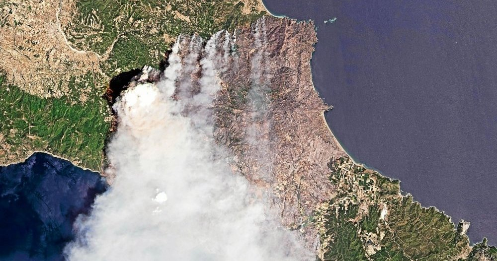 Greece Fires: Devastating Flames from Space