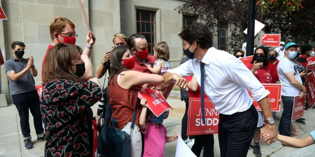Justin Trudeau is betting on the results of his Covid-19 administration to get his mandate renewed