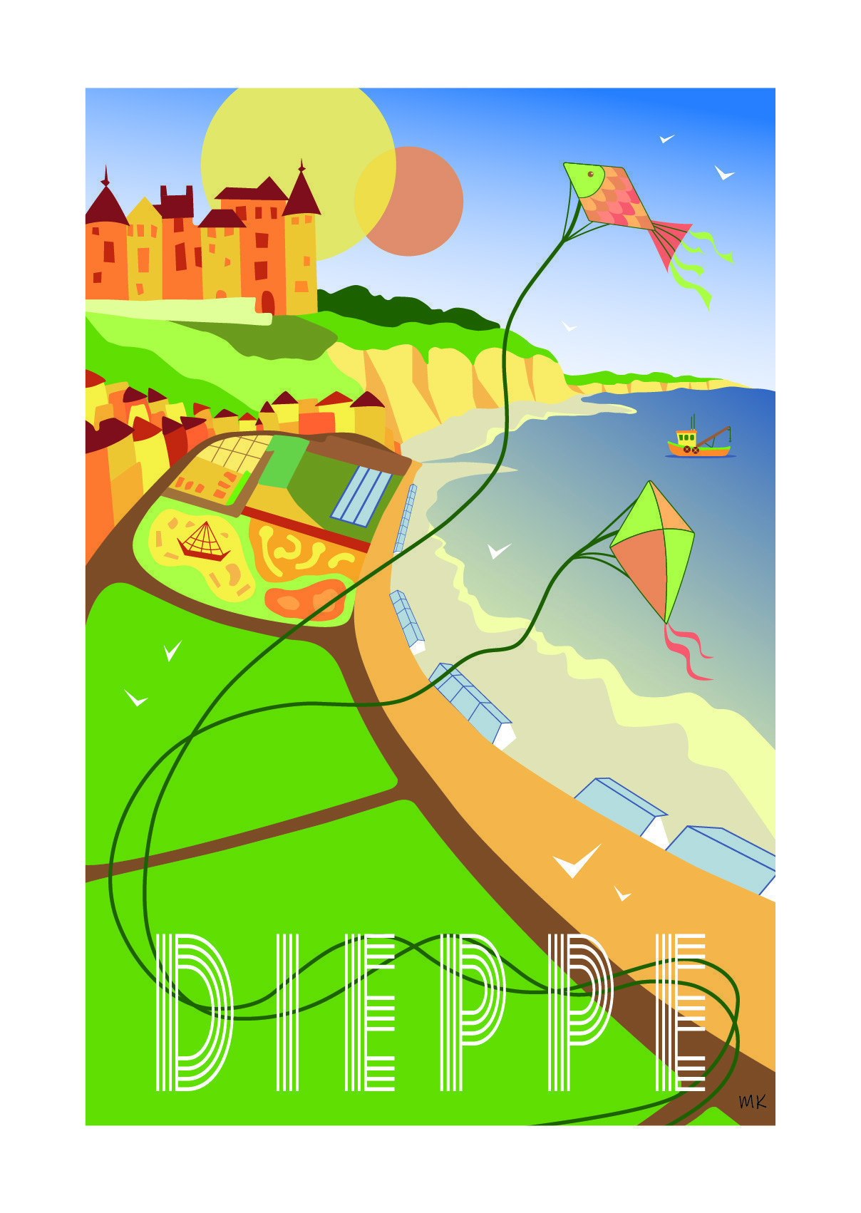 Mary Opax created this Dieppe poster and intends to get others on the road.