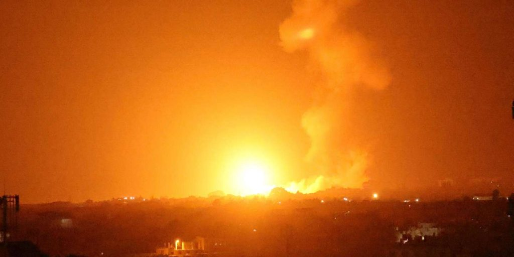 Israel launched air strikes on Gaza in response to the launching of incendiary balloons