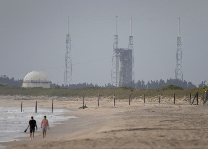 An Atlas-V rocket in Cape Canaveral on August 3, 2021, Florida.