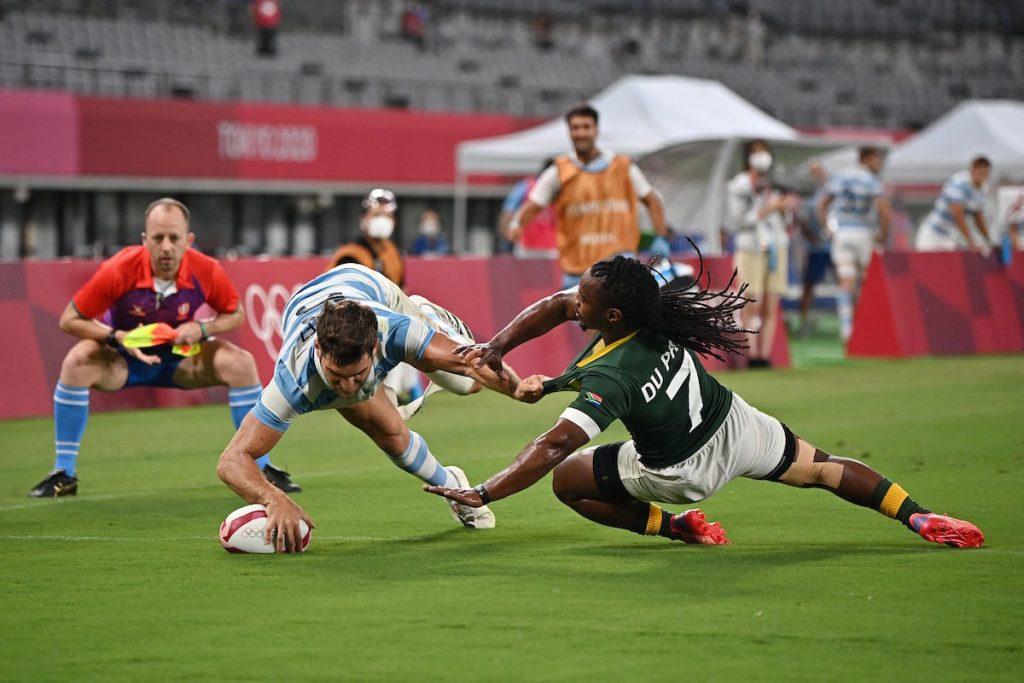 Fiji-Argentina, New Zealand and Great Britain, Sevens men's semi-final    arabic