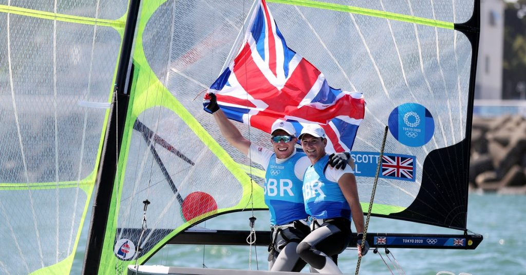 Great Britain, he went in the 49er.  ;  Silver for New Zealand, bronze for Germany