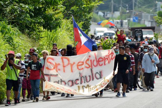 Some immigrants had taken the route, Saturday, August 28, 2021, from Tapachula, Chiapas.