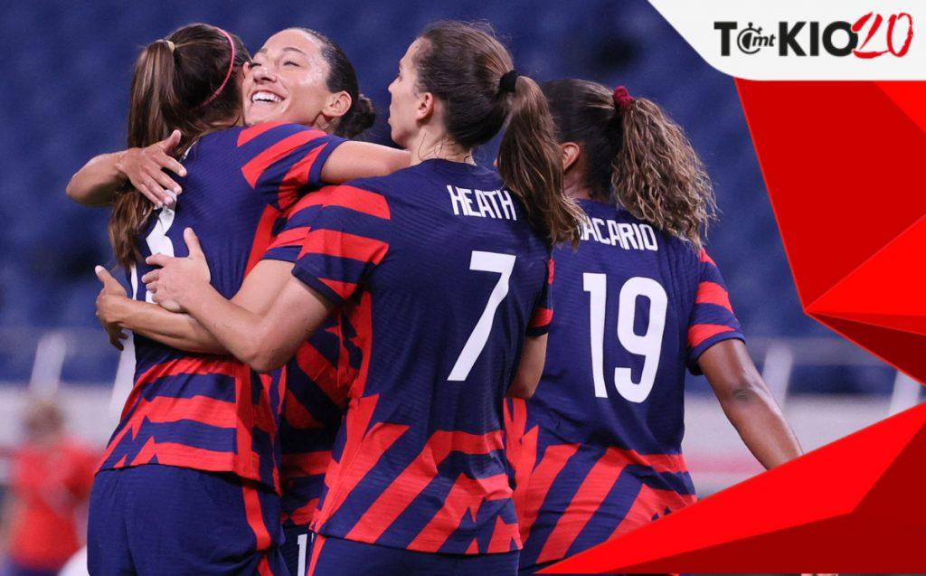 New Zealand - United States (1-6).  JJ.OO Women's Soccer Score.