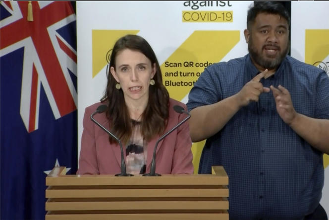 New Zealand's Prime Minister, Jacinda Ardern, announced the country's re-containment at a press conference in Wellington on Tuesday 17 August 2021.