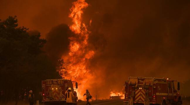 New wildfire out of control in Northern California