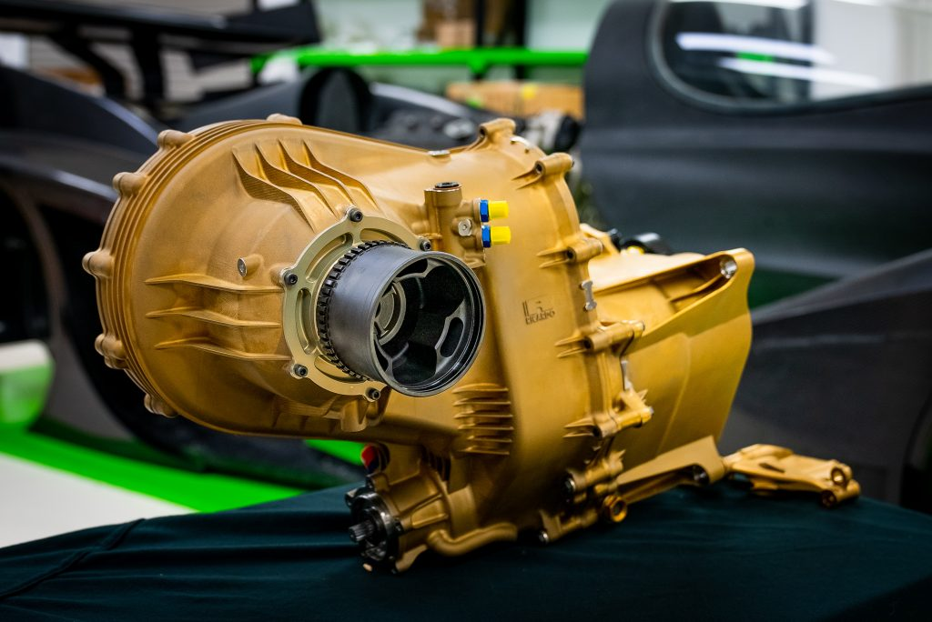 Rodin Cars 3D prints 8-speed sequential gearbox