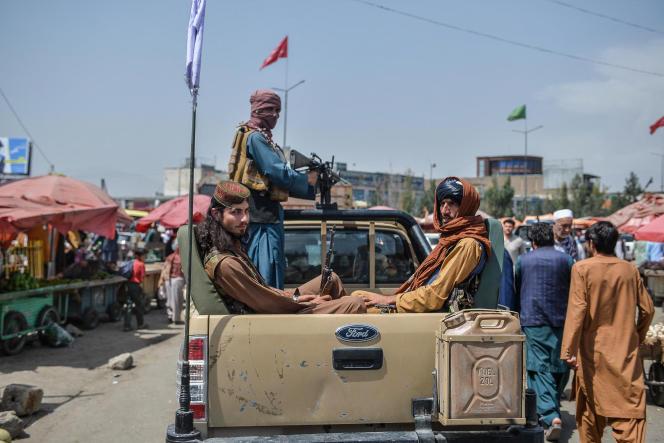 Taliban in Kabul, August 17.
