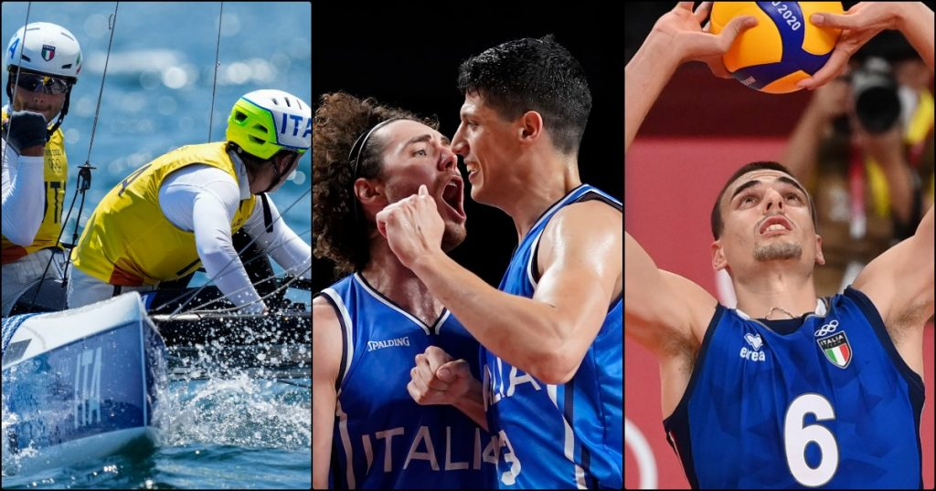 The Azzurri compete in Tokyo on Tuesday, August 3rd and finals times: It's volleyball and basketball day, with Tita and Bantey sailing the water for the gold medal.