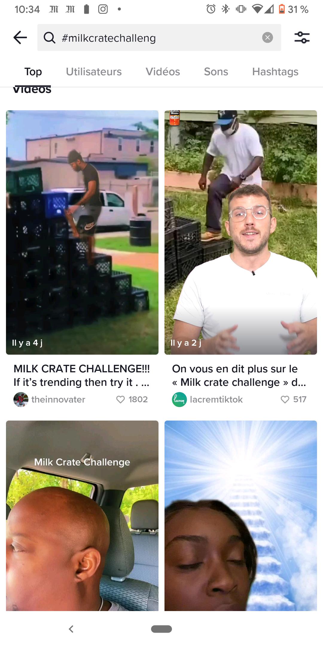 Tiktok milk box challenge