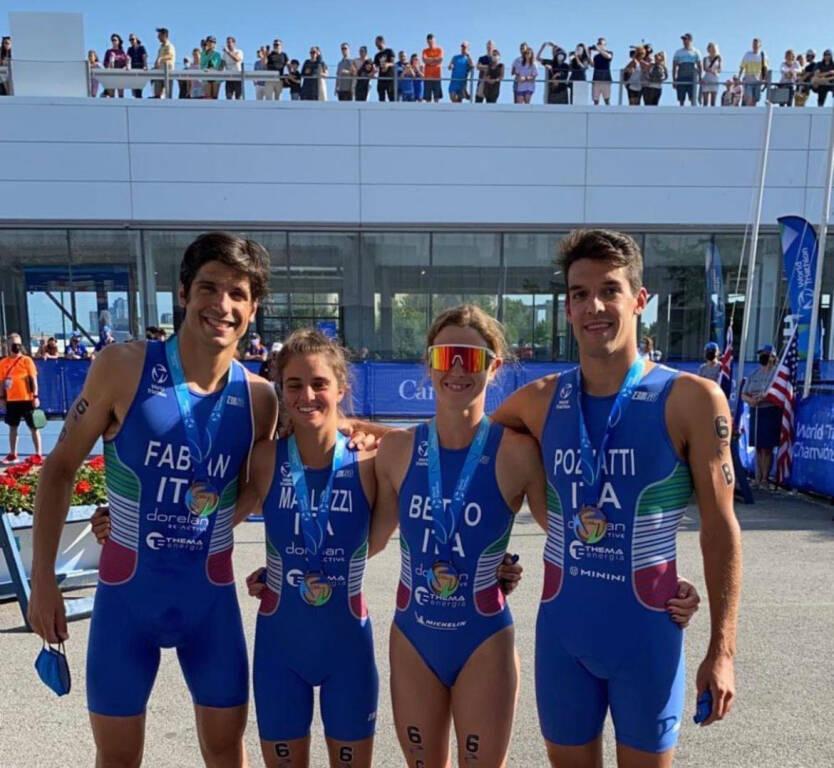 Triathlon World Series, the historic podium for Italy in Pozzati