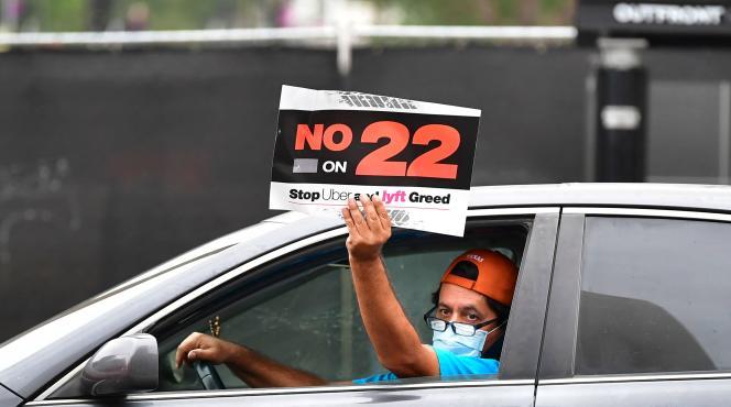 Uber driver protesting for refusal
