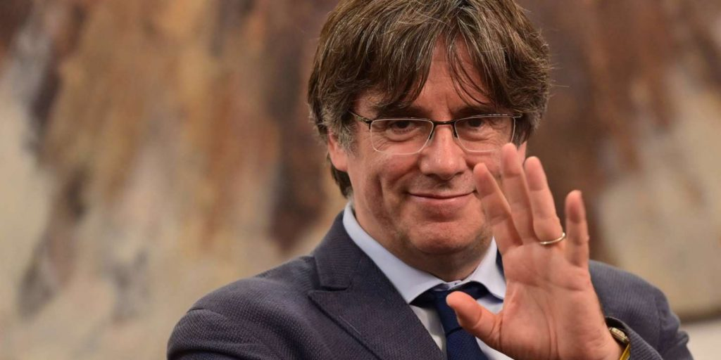 Catalan independence leader Carles Puigdemont returns to Brussels after brief arrest in Italy