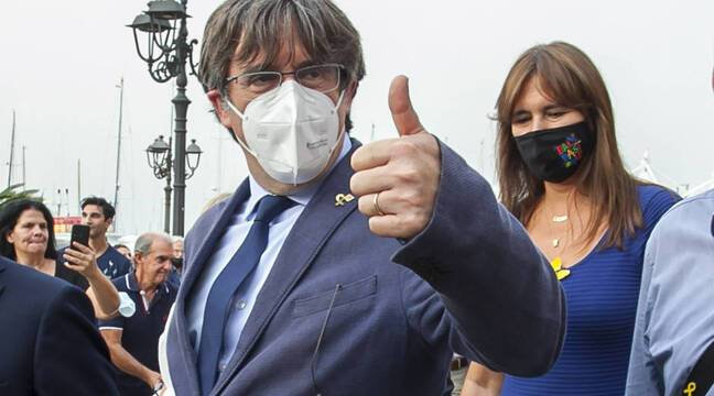 Carlos Puigdemont returns to Brussels but will return to Italy for an extradition hearing
