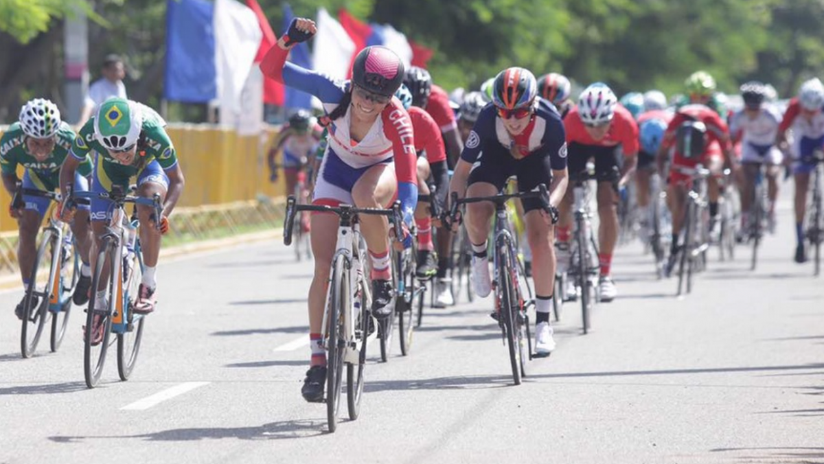 Paula Munoz wins the sprint at the end of the latest edition of the Pan American Championships, in the Dominican Republic