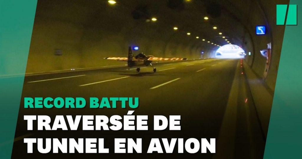 Fly a plane through a tunnel?  Driver Dario Costa did it