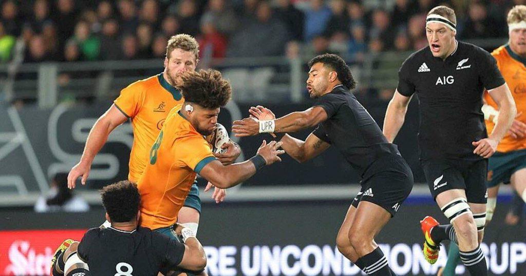 Football.  New Zealand sweeps Australia to win Bledisloe Cup