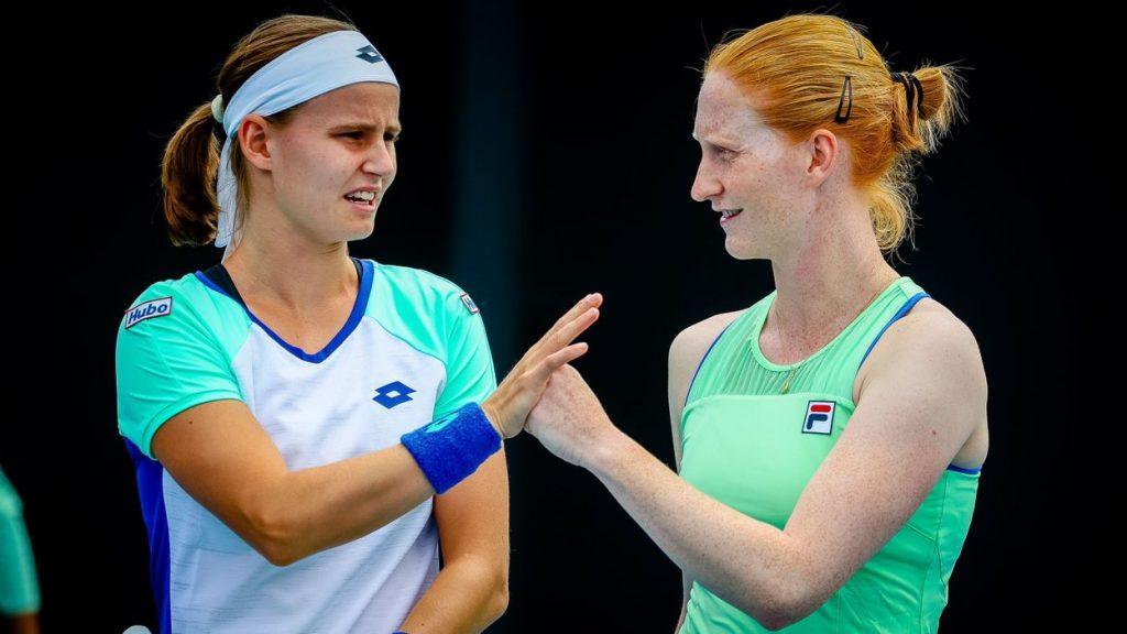 Hi Menin and Alison van Uytvanck again Kimberly Zimmermann, final and double