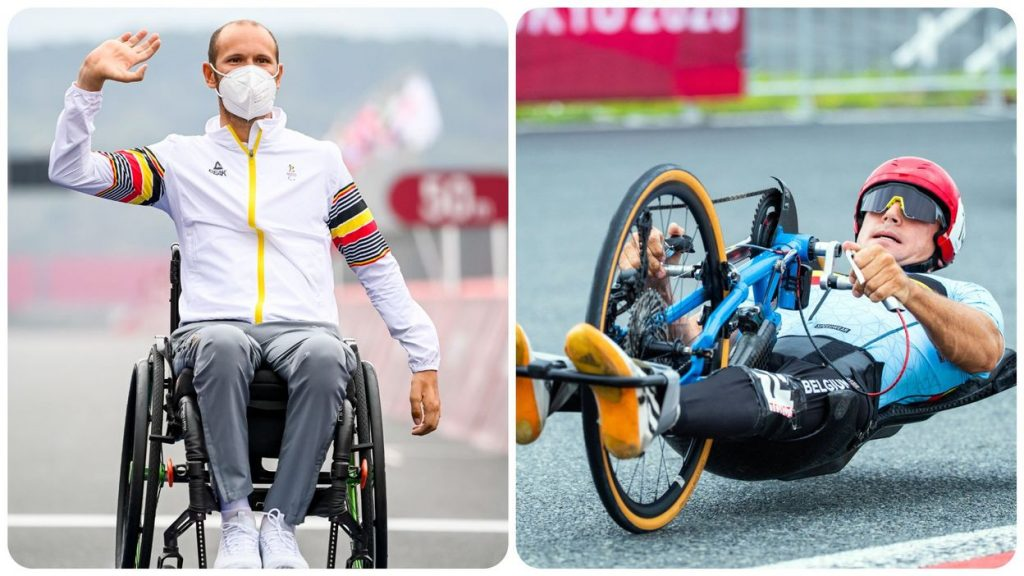 Paralympics - Handbike: Crowd (H1) 6th in a road race dominated by H2 athletes, Van de Steen 4th in H4