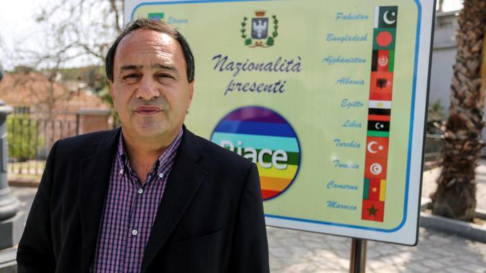 Domenico Lucano, à Riace, le 22 avril 2016.