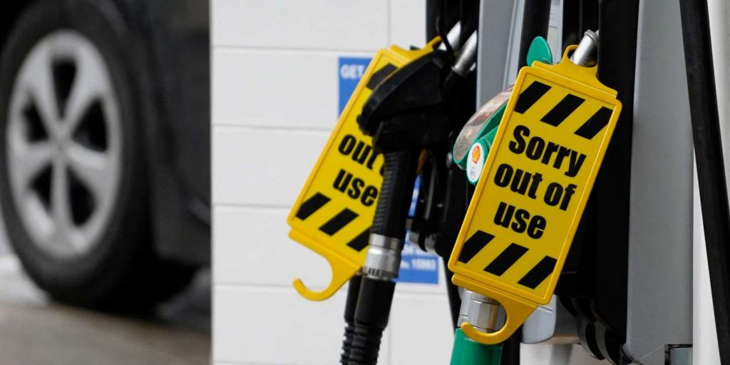 In the UK, gasoline shortages worsened in the south of the country