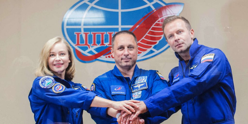 Russia sends crew to shoot first feature film in space