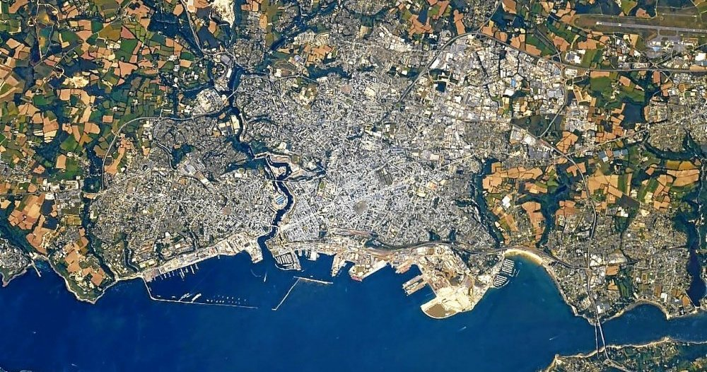 Thomas Pesquet publishes images of Brest, Rennes, Saint Malo and Quiberon seen from space - Thomas Pesquet's new mission to the International Space Station