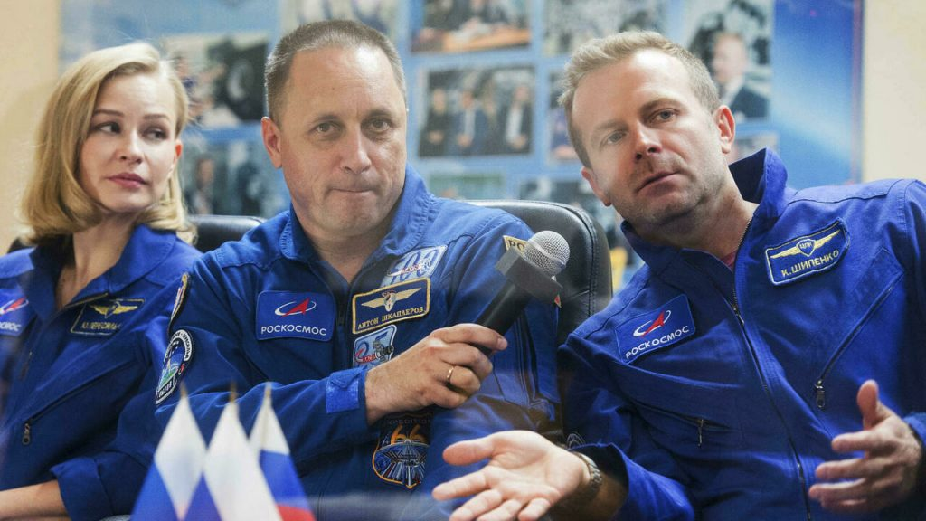 Actress and director in space to shoot the first movie in orbit