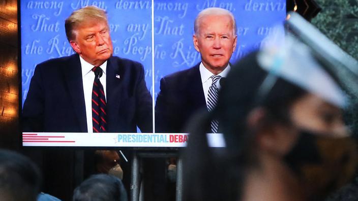 Donald Trump et Joe Biden, lors de leur débat présidentiel.