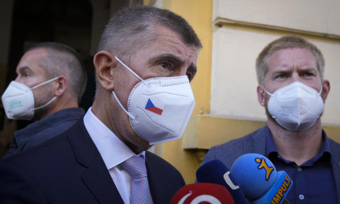 Czech Prime Minister Andrej Babis after voting in the parliamentary elections in Lovosice (Czech Republic), October 8, 2021.