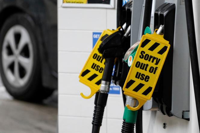 A gas station displays on its pumps: