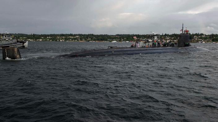 Sous-marin américain à propulsion nucléaire. Image d