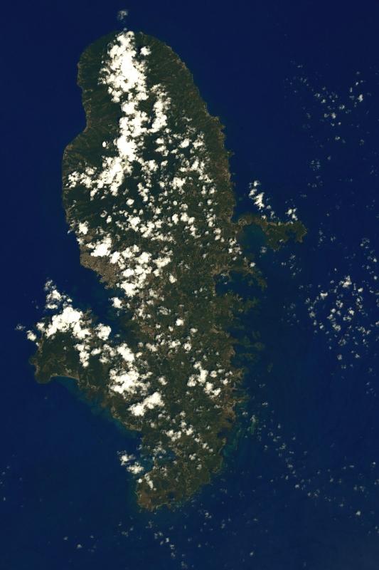 La Martinique photographiée par Thomas Pesquet depuis l'espace