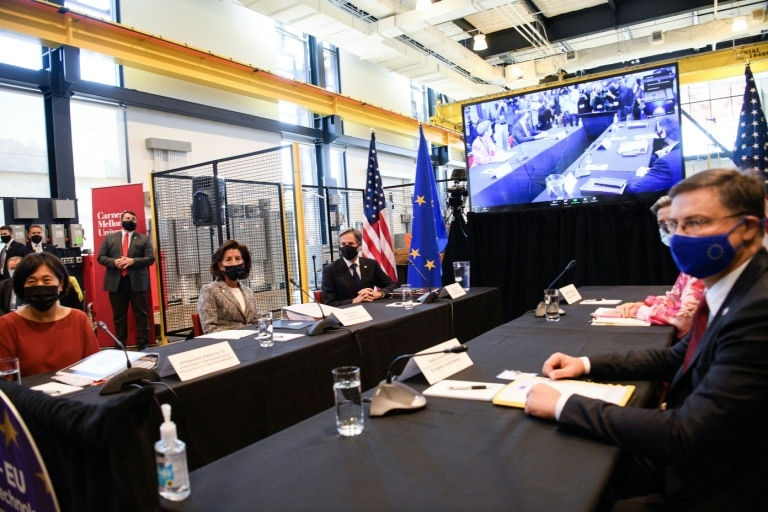The United States and the European Union are committed to joint action on technology, semiconductors and Chinese issues